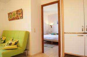 Appartement - salon-cuisine - kitchen & living room - cocina y sala