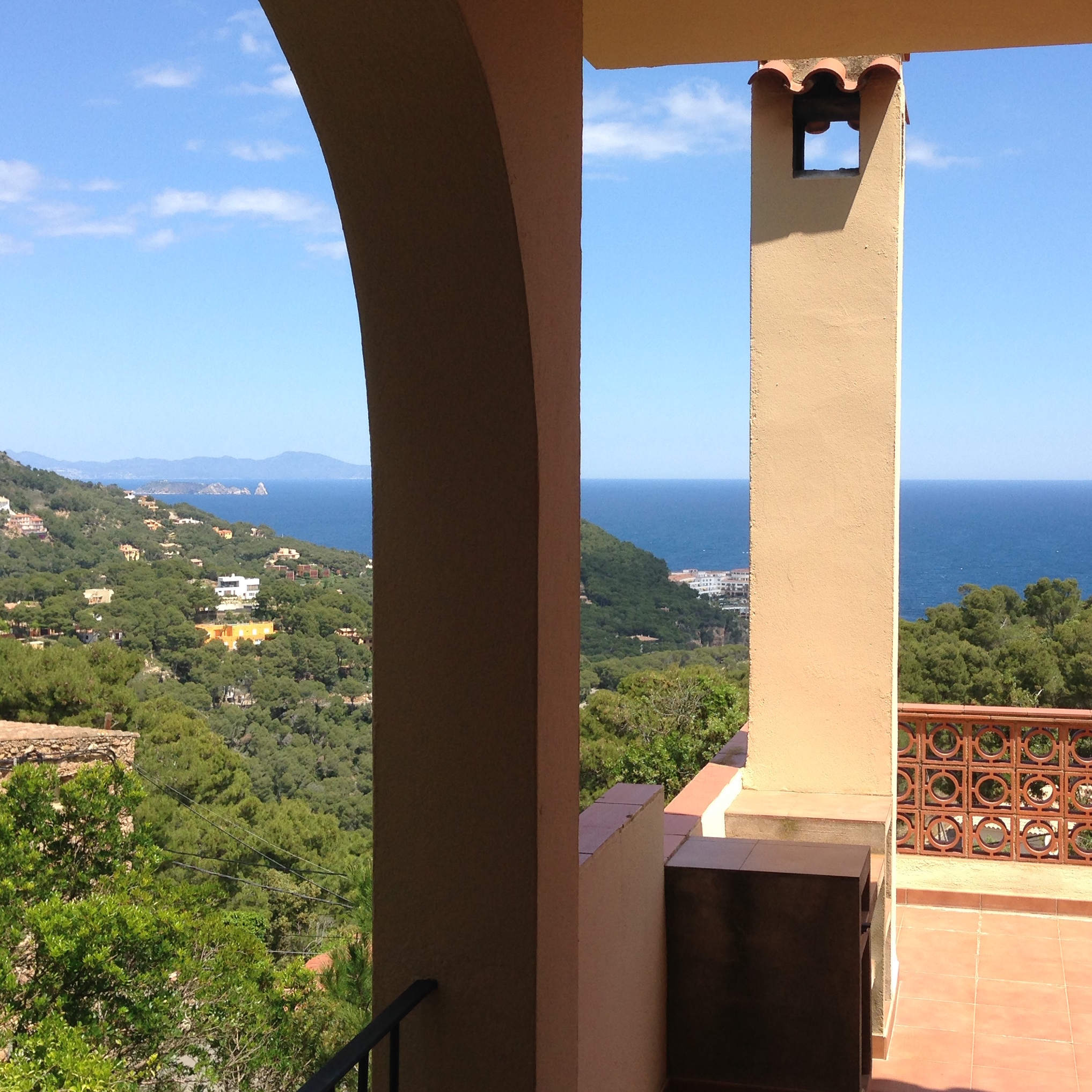Sea views from the terrace